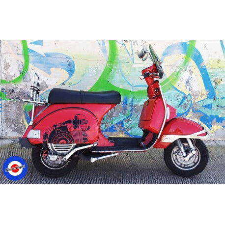 Sticker Decal Vespa PX Engine