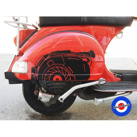 Sticker Decal Vespa PX Classic Engine