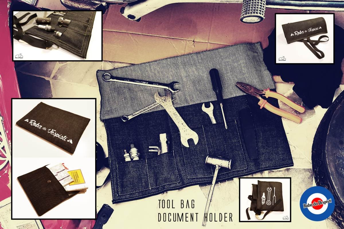 Tool bag, Documen holder, stickers and accessories!